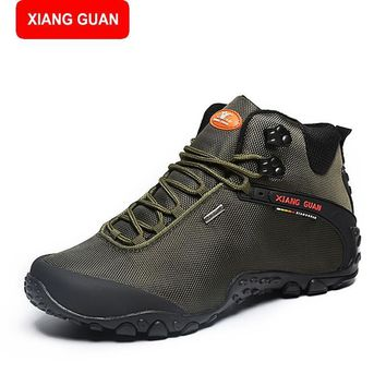 XIANG GUAN Tactical Boots men Desert Combat Outdoor Travel Boots Shoes Autumn Winter A