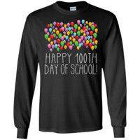 Count them 100 Balloons 100th Day of School Teacher - Long Sleeve LS, Sweatshirt, Hoodie