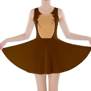 Chip and Dale Chip Inspired Skater Dress
