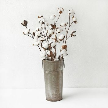 Dried flowers real flowers cotton branches art fan industrial wind forest family home decoration shooting props