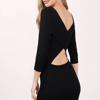 Torin Cross Back Bodycon Dress