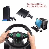 For XBOX 360 For PS2 For PS3 Game Steering Wheel 180 Degree Rotation Gaming Vibration Racing Steering Wheel With Pedals