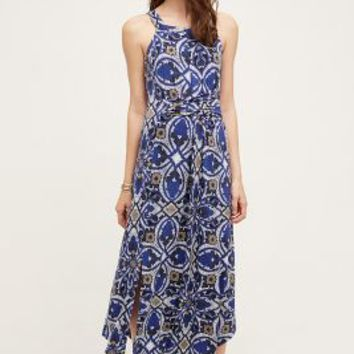Maeve Auretta Maxi Dress in Blue Motif Size: