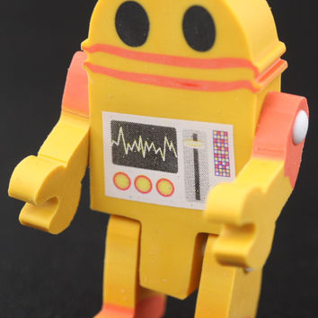 Yellow Robot Eraser
