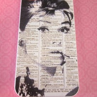 Audrey Hepburn black and white, newspaper iPhone 4/4s case/cover No.4-20