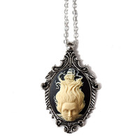 Lady of the Sea Cameo Victorian Necklace