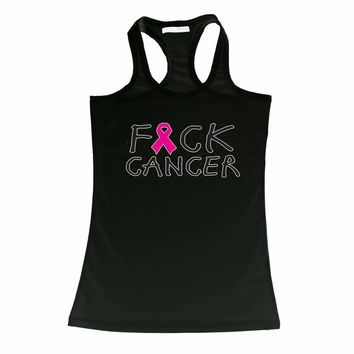 Women's Tank Top Breast Cancer Awareness F*&ck Cancer