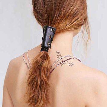 Leather Corset Pony Tail Holder-