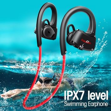 Dacom P10 Sport Swim Swimming IPX7 Waterproof Ear Hook Wireless Bluetooth Headphone Earphone Earbuds (MP3 Player/ Bluetooth Vers