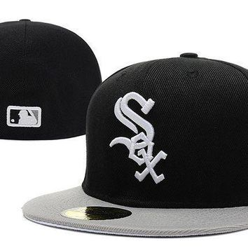 Chicago White Sox New Era Mlb Authentic Collection 59fifty Hats Black White
