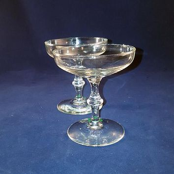 Saucer Champagne Coupes S/2