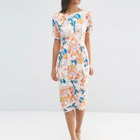 ASOS Wiggle Print in Bright Floral Print