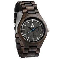 All Wood Watch // All Ebony Theo Blue
