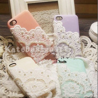 iphone 4s case, lace iphone 5 cases iphone cover skin unique iphone 4 case - 4 colors choices iphone 5 cases