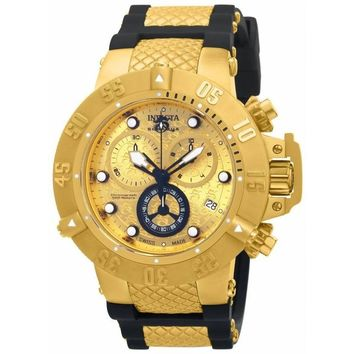 Invicta Men's 15802 Subaqua Quartz Chronograph Gold Dial Watch