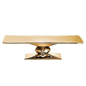 Rock Rectangle Cakestand Gold