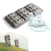 Easter Island Moai Stone Statues Ice Tray Cubes DIY Mould Pudding Mold