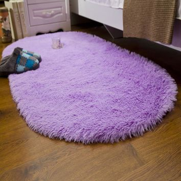 2017 new oval Carpet Beautiful Floor mat Modern Shaggy Area Rugs and Carpet for Home Living Room Bedroom Shaggy Carpet Rug