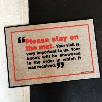 Please Stay On Mat, a Funny Doormat