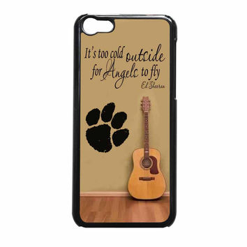 Ed Sheeran Guitar And Song Quotes iPhone 5c Case