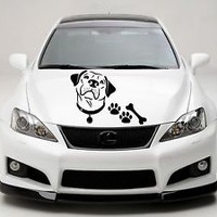Car Hood Decals Dog Decal Pet Shop Decor Vinyl Sticker Golden Retriever KG876