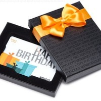 Amazon.com $50 Gift Card in a Black Gift Box (Birthday Presents Card Design)