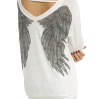 Angel Wing Sweater Top