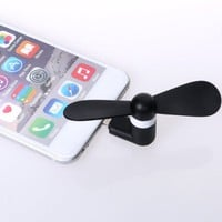USB Micro Phone Fan,Phone Mini Fan for iphone6/6 plus, iphone 5/5s with Micro USB Port fan (Black)