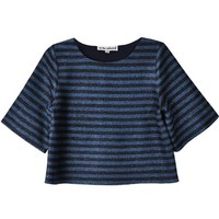 To Be Adored Laurdes Striped Laurdes Top