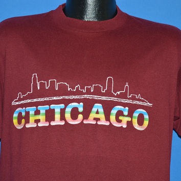 80s Chicago Rainbow Skyline t-shirt Large