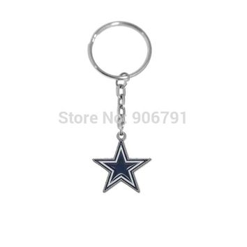 Fashion 20pcs a lot  zinc alloy  enamel  Dallas Cowboys Charms Keychain