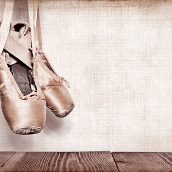 Vintage Ballet Slippers 8x10 Print, Girls Room Decor, Girls Nursery, Wall Art, Art decor, Girls room Ideas,