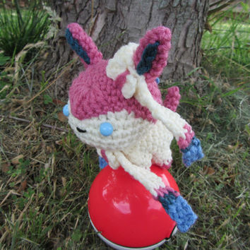 Made to Order - Crochet - Chibi Pokemon Amigurumi - Sylveon