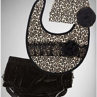 Leopard Hat, Bib and Diaper Cover Set - Spencer's
