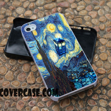 starry night dr who case for iPhone 4/4S/5/5S/5C/6/6+ case,samsung S3/S4/S5 case,samsung note 3/4 Case