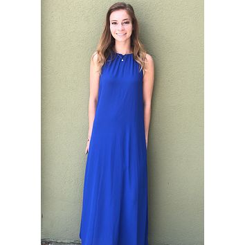Here We Are Dress- Royal Blue