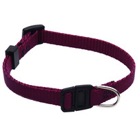 8in - 12in Adjustable Safety Cat Collar Burgundy By Majestic Pet Products