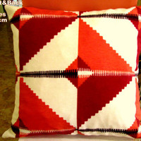 Ultramodern diamond pillow top – Geometric cover 18x18