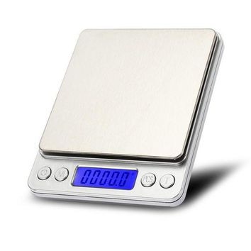 DCCKFS2 Weigheng 3kg 0.1g Mini Digital Scale Electronic Kitchen Food Jewelry Balance Stainless Steel Platform Weighing Scales with Tray
