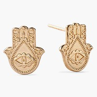 Women's Alex and Ani 'Symbolic - Hand of Fatima' Stud Earrings