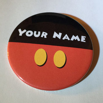 Personalized Mickey Mouse Inspired 3 Inch Button