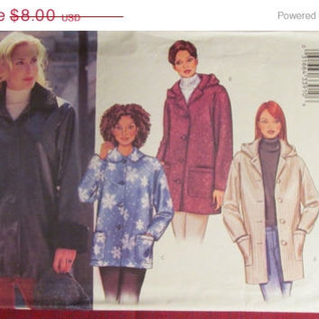 SALE Uncut Butterick Sewing Pattern, 3260! 8-10-12/Small/Medium/Women's/Misses/Button Up Jackets/Winter Coats/Collared Jacket/Winter/Fall/Sp