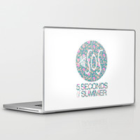 5SOS - 5 Seconds of Summer - Floral Laptop & iPad Skin by Valerie Hoffmann   Society6
