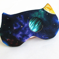 Galaxy Eye mask, Sleep mask, eye sleep mask, Kitty eye mask, Cat eye mask.
