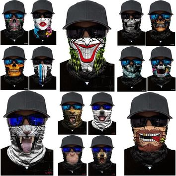 Ski Cycling Motor Neck Tube Snowboard Scarf Neck Warmer Face Mask Balaclava Bandana Party Fool's Day Clown Cosplay