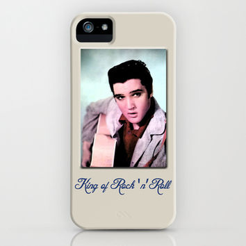 young Elvis Presley digital photo art.  the king of music, rock 'n' roll.  iPhone & iPod Case by PatternWorld