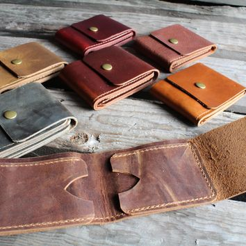 Leather Billfold, Leather wallet, Billfold wallet, Card Wallet, leather minimalist wallet, leather bifold wallet, mens leather wallet
