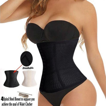 Waist Trainer Cincher Hot Body Shapers Sport Workout Waist Training Corsets Girdle Control Cincher Shapers fajas fajas reductoras [9222498628]