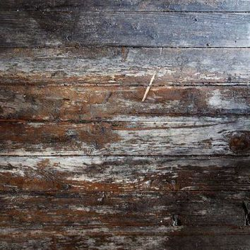 Blue Brown Wood Grunge Vinyl Backdrop - 6x8 - LCCR7117- LAST CALL