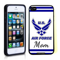 USAF US Airforce Mom Blue iPhone 5 Case - For iPhone 5/5G - Designer TPU Case Verizon AT&T Sprint